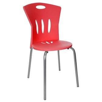 Plastik Sandalye Kırmızı